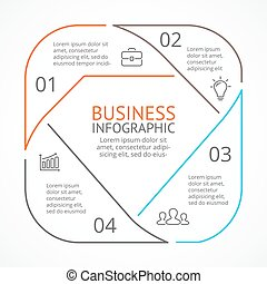 Lluxury fashion brilliant linear infographic - Layout for...