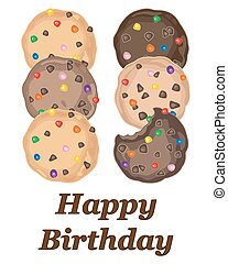 sweet birthday - a vector illustration in eps 8 format of a...