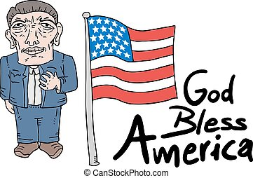 God bless America message - Creative design of God bless...