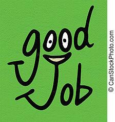good job messageharm kanji symbol - Creative design of good...