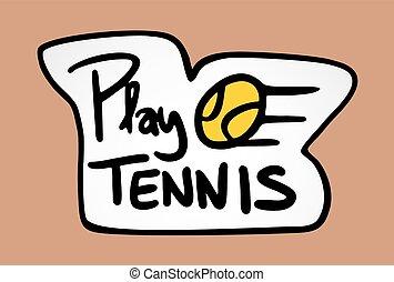 imaginative tennis symbol - Creative design of imaginative...