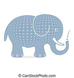 Cute safari grey character elephant