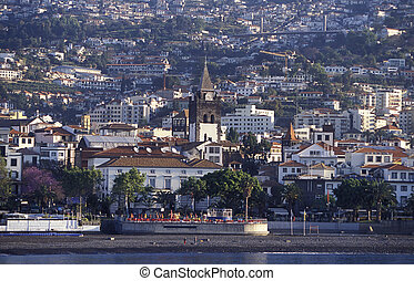 EUROPE PORTUGAL MADEIRA FUNCHAL - the city centre in the old...