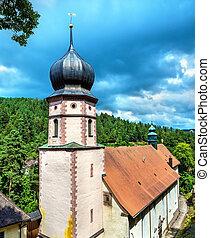 Maria in der Tanne church near Triberg im Schwarzwald in the...