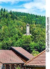 View of Triberg im Schwarzwald town - Germany,...