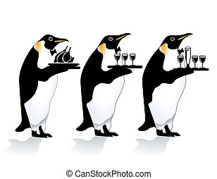 penguin waiter