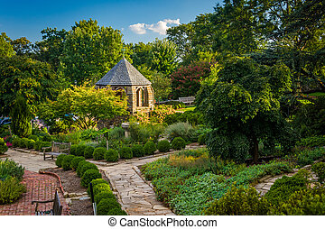Gazebo in the Bishop's Garden at the Washington National...