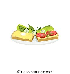 Bruschetta European Cuisine Food Menu Item Detailed...