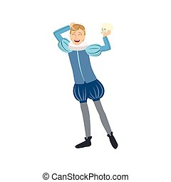 Actor Playing Hamlet, Creative Person Illustration