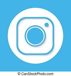 nice blue flat cam symbol - Creative design of nice blue...