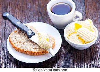 brean and butter - bread and butter for breakfast, breakfast...