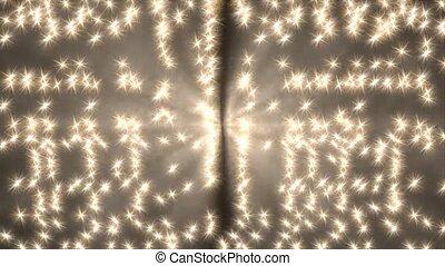 Falling glittering stars