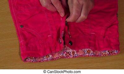 Cotton elegant children's trousers for summer