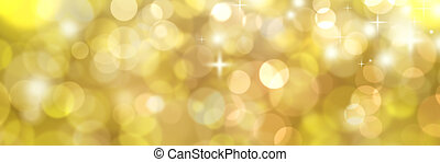 sparkling background - panorama with christmas golden...