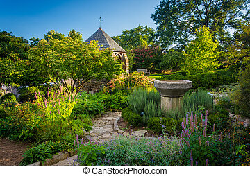 The Bishop's Garden at the Washington National Cathedral in...