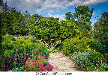 The Bishop's Garden at Washington National Cathedral, in...