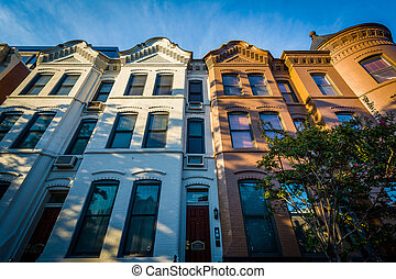 Rowhouses in downtown Washington, DC.
