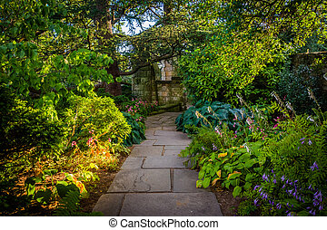 Path in the Bishop's Garden at the Washington National...