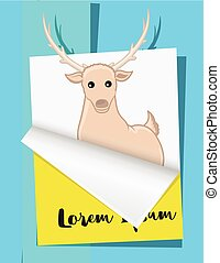 Christmas Reindeer Greeting Template Vector Illustration