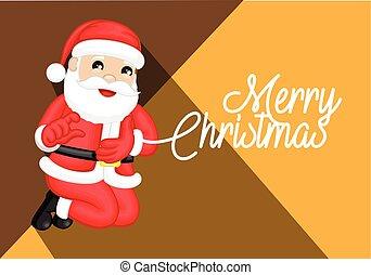 幸せ, 挨拶,  santa, クリスマス