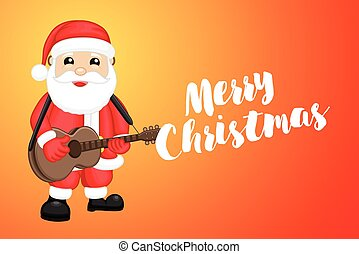 Santa Claus with Guitar Christmas