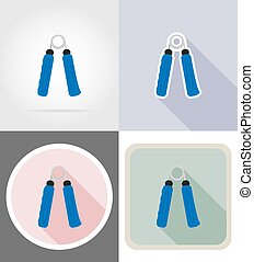 expander flat icons vector illustration isolated on...