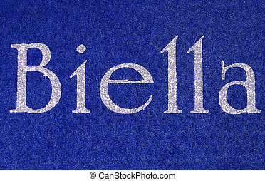 biella Written of an Italian City with glitter font - biella...