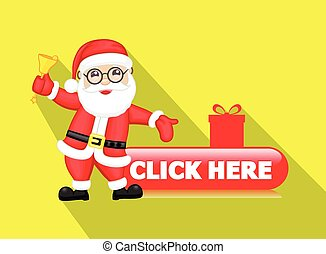 Online Christmas Shopping Concept Vector Illustration