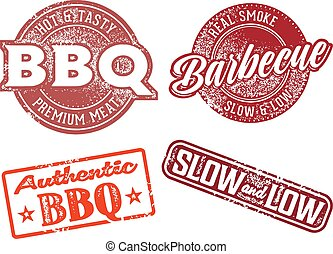 Barbecue BBQ Vintage Rubber Stamp