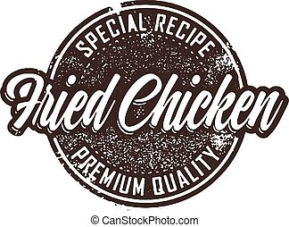 Vintage Fried Chicken Menu Stamp - Vintage fried chicken...