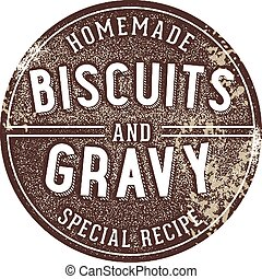 Biscuits and Gravy Vintage Sign
