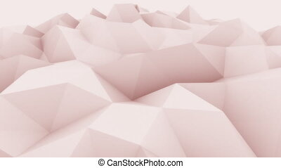 Rose abstract triangular modern motion background for presentations and reports. 4K seamless loop animation, ProRes