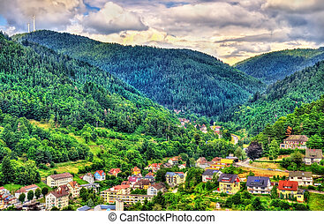 View of Hornberg village in Schwarzwald mountains - Germany...