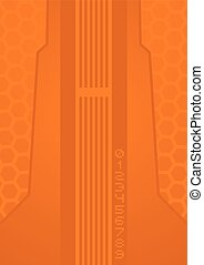 imaginative orange background - Creative design of...