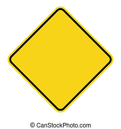 yellow sign blank