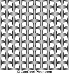 Wattled seamless pattern with gradient - Crossed ribbon...