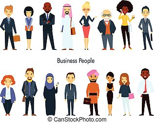 Multi ethnic Team Business People Set - Multinational...