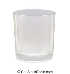 Vector glass on white - Vector photorealistic glass on...