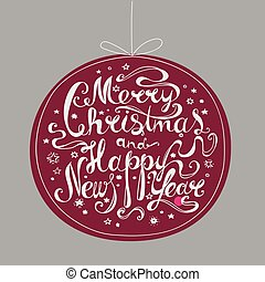 """merry christmas - Lettering """"Merry Christmas and Happy New..."""