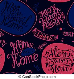 Home sweet home - Seamless Home sweet home Labels and design...