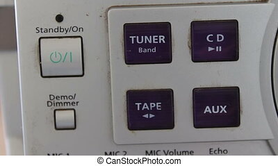 Buttons on a Tape Recorder - button on the tape recorder On...
