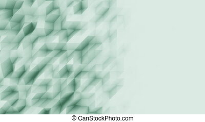 Abstract green low poly motion background for modern reports...