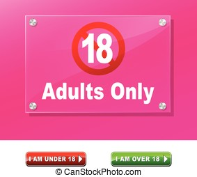 adults only access - Illustration of adults only access...