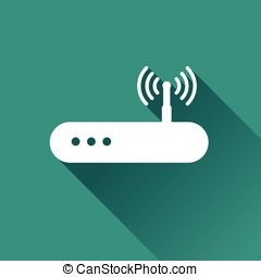 router icon design - Illustration of router icon design with...