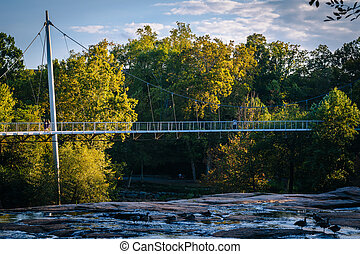 Bridge at the Falls Park on the Reedy, in Greenville, South...