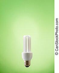 closeup of fluorescent light bulb