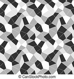 Mosaic geometric seamless pattern 3D. Fashion graphic...