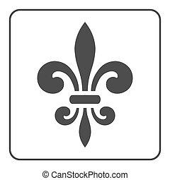 Fleur de Lis symbol. Fleur-de-Lis sign. Royal french lily....