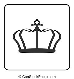 Crown icon isolated on white background - Crown icon -...