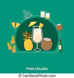 Cocktail Recipe Template - Cocktail recipe template of pina...